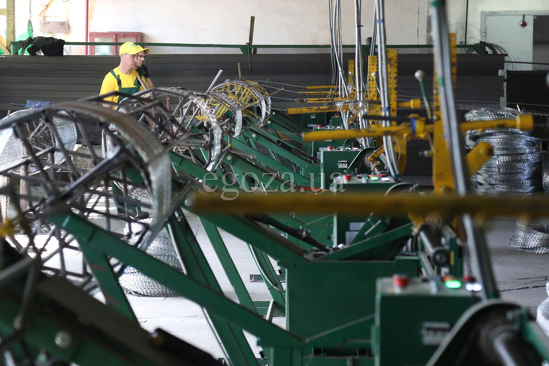 Производство спиральных заграждений