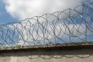 Двойной барьер Егоза на бетонном заборе