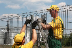 Mounting of welded fence panels